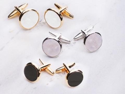 Cufflinks/ Round Pearl