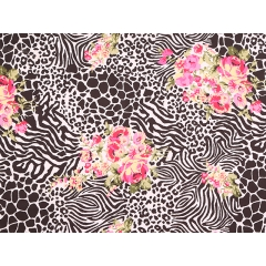 Wilderness Stretch Crepe/black floral