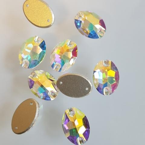 Oval crystal ab
