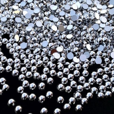 Half pearls silver
