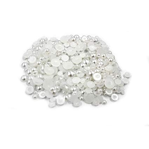 Half pearls white