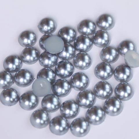 Half pearls dark silver grey